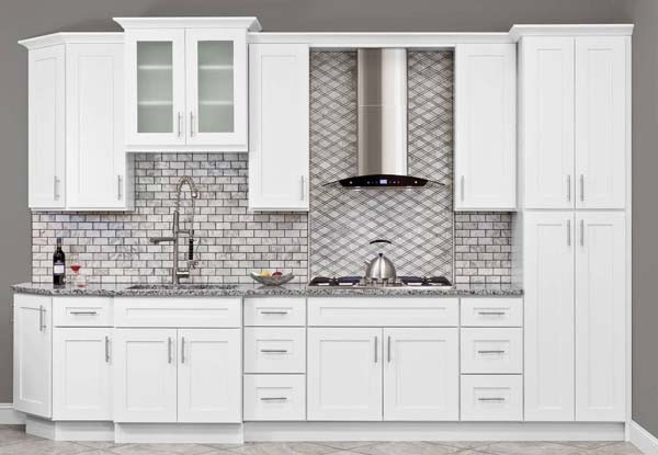 Simply White Shaker Kitchen Cabinets K10 Dkbc Discount Kitchen Bath Cabinets