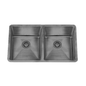 32x19 Grey Small Radius 18ga Double Kitchen Sink (KUS-KR3219DGr)