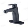Bathroom faucet black matte