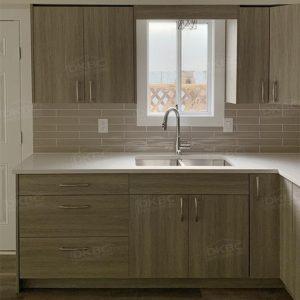 City Oak Textured Flat Kitchen Cabinets T43