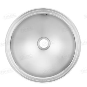Franke round stainless steel bathroom sink